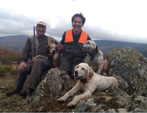 Cariño y valoración del perro del cazador